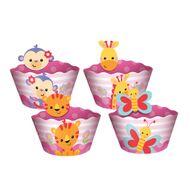 Wrapper Chá de Bebê Rosa (12uni) - Regina Festas