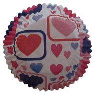 Forminha para Cupcake Mago (45uni) - Coração