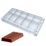 Forma de Chocolate em Policarbonato Tablete/Barra 1kg - Gramado Injetados