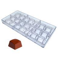 Forma de Chocolate em Policarbonato Cubo Esculpido - Gramado Injetados