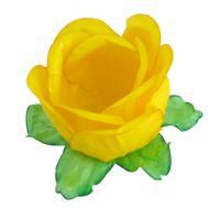 Forminha Flor para Doces (40 uni) - Amarelo Vivo