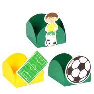 Forminha 4 Pétalas Futebol (24uni) - Papel Confeito