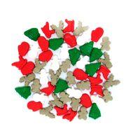 Enfeite de Natal em Açúcar Miniaturas (50uni) - Jady Confeitos
