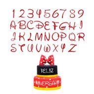 Cortadores Letras e Números Fantasia Disney - Celebrate