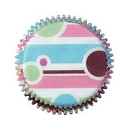 Forminha de Papel para Mini Cupcake Bubble Stripes - Wilton