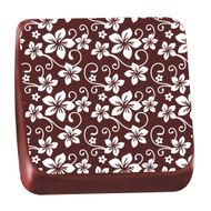 Transfer para Chocolate (40 x 30cm) - Roseira Branca