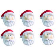 Enfeite de Natal em Açúcar Papai Noel Médio (6uni) - Jady Confeitos