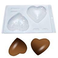 Forma de Chocolate Acetato com Silicone Coração 200g - BWB
