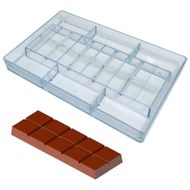 Forma de Chocolate em Policarbonato Tablete/Barra 500g - Gramado Injetados
