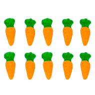 Enfeite de Páscoa em Açúcar Cenoura Pequena (10 uni) - Jady Confeitos