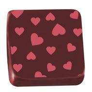 Transfer para Chocolate (40 x 30cm) - Coração Vermelho