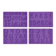 Molde em Silicone para Decoração Letras e Números - Wilton