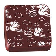 Transfer para Chocolate (40 x 30cm) - Cegonha Branco