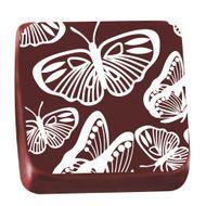Transfer para Chocolate (40 x 30cm) - Borboleta Branco