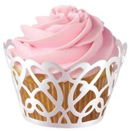 White Pearl Swirl Cupcake Wrap - Wilton