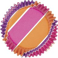 Pink/Purple/Orange Stripes ColorCups Baking Cups - Wilton