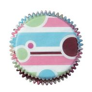 Forminha de Papel para Cupcake Bubble Stripes - Wilton