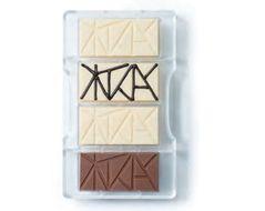 Forma de Chocolate em Policarbonato Tablete Barra Estilizada 40g - Decora