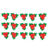 Enfeite de Natal em Açúcar Azevinho (15uni) - Jady Confeitos