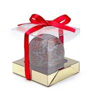 Caixa para Bola 7cm - Vermelha (4uni)