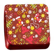 Transfer para Chocolate (40 x 30cm) - Botas e Pinheiros
