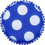 Forminha para Mini Cupcake Mago (45uni) - Azul Pois