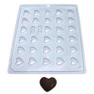 Forma de Chocolate Acetato Coração Mini (10 uni) - BWB