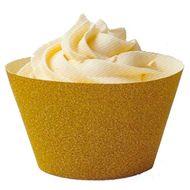 Cupcake Wraps Glitterati Gold (Ouro) - Wilton
