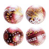 Blister Bola de Natal de Chocolate 7cm (8uni) - Feliz Natal