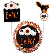 Kit para Decorar Cupcakes Halloween (24uni) - Wilton