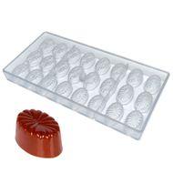 Forma de Chocolate em Policarbonato Bombom Oval - Gramado Injetados