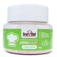 Corante Hidrossolúvel em Pó Candy Colors (30g) Maçã Verde - Gran Chef
