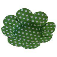 Forminha para Doce Margarida Pois - Verde Limão (50uni)