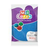 Açúcar Azul para Decoração (500g) - Mil Cores