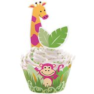 Jungle Pals Cupcake Wraps'n Pix - Wilton