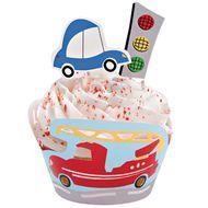 Wheels Cupcake Wraps'n Pix - Wilton