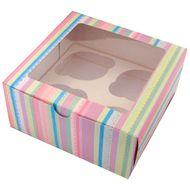 Caixa Listras - 4 Cupcakes (5 uni)