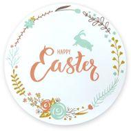 Adesivos Happy Easter para Páscoa Grande (5uni) - Papel e Confeito