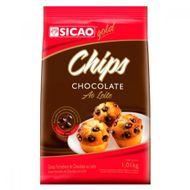 Chocolate Gotinhas Forneáveis Chips ao Leite (1,01kg) - Sicao