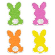 Bunny Silhouette Icing Decorations (12uni) - Wilton