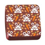 Transfer para Chocolate Páscoa 40 x 30cm - Coelhos e Cenoura