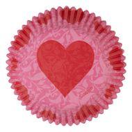 Forminha de Papel para Cupcake Pink Damask - Wilton