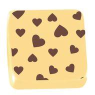 Transfer para Chocolate (40 x 30cm) - Coração Marrom