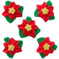 Enfeite de Natal em Açúcar Flor de Natal (5uni) - Jady Confeitos