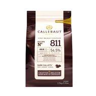 Chocolate Callebaut Amargo 54,5% Cacau nº 811 em Callets (2,5kg) - Callebaut