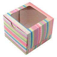 Caixa Listras - 1 Cupcake (5 uni)