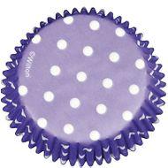 Forminha de Papel para Cupcake Purple Polka Dots - Wilton