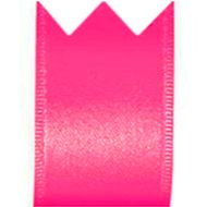 Fita Cetim Simples Rosa Cítrico (3,8cm x 10m) - Progresso