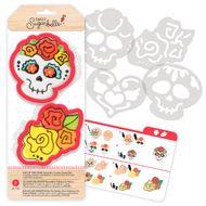 Kit Decoração de Biscoito Caveira - Sweet Sugarbelle