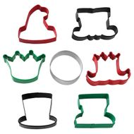 Kit 7pcs Cortadores Personagens de Natal - Wilton